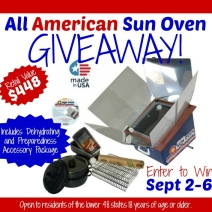 All American Sun Oven Giveaway!