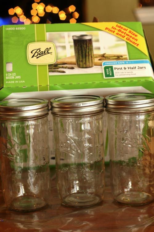 Pint & Half Size Mason Jars (24 oz)