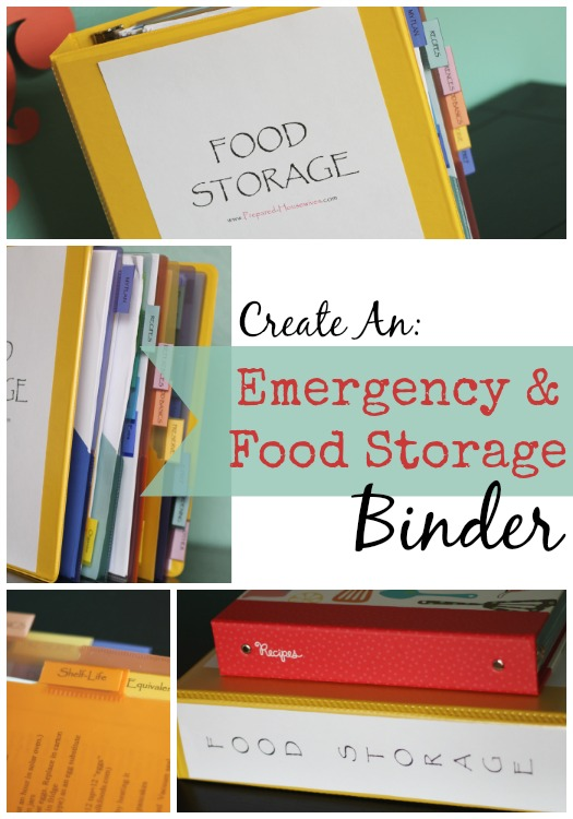 When getting prepared, having a place to put all your information is crucial. Take a look at how I set-up my emergency & food storage binder! This is something you don't want to go without!