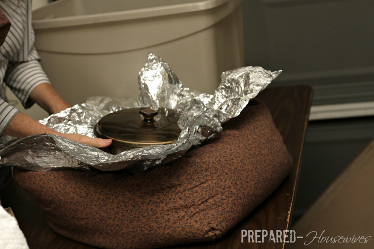 decrease condensation while cooking with foil