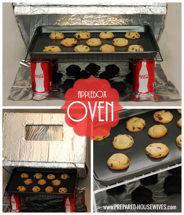 Have an oven even in an emergency. All you need is a box & foil. For more instructions on how to make one visit: www.PREPARED-HOUSEWIVES.com - #EmergencyPreparedness #AlternativeCooking #AppleboxOven