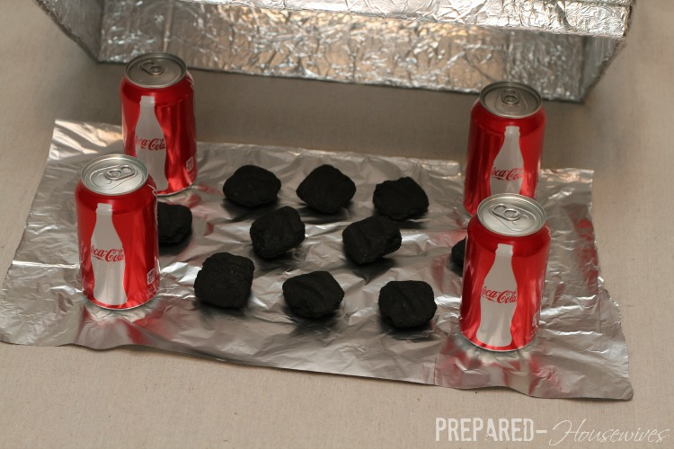 use charcoal in applebox oven