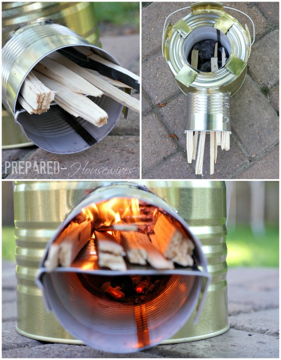 rocket stove uses only a few twigs