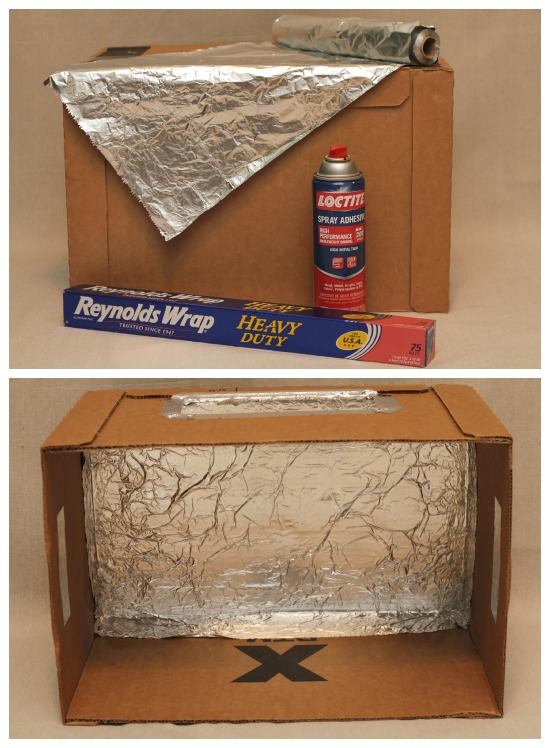 cover applebox oven with foil