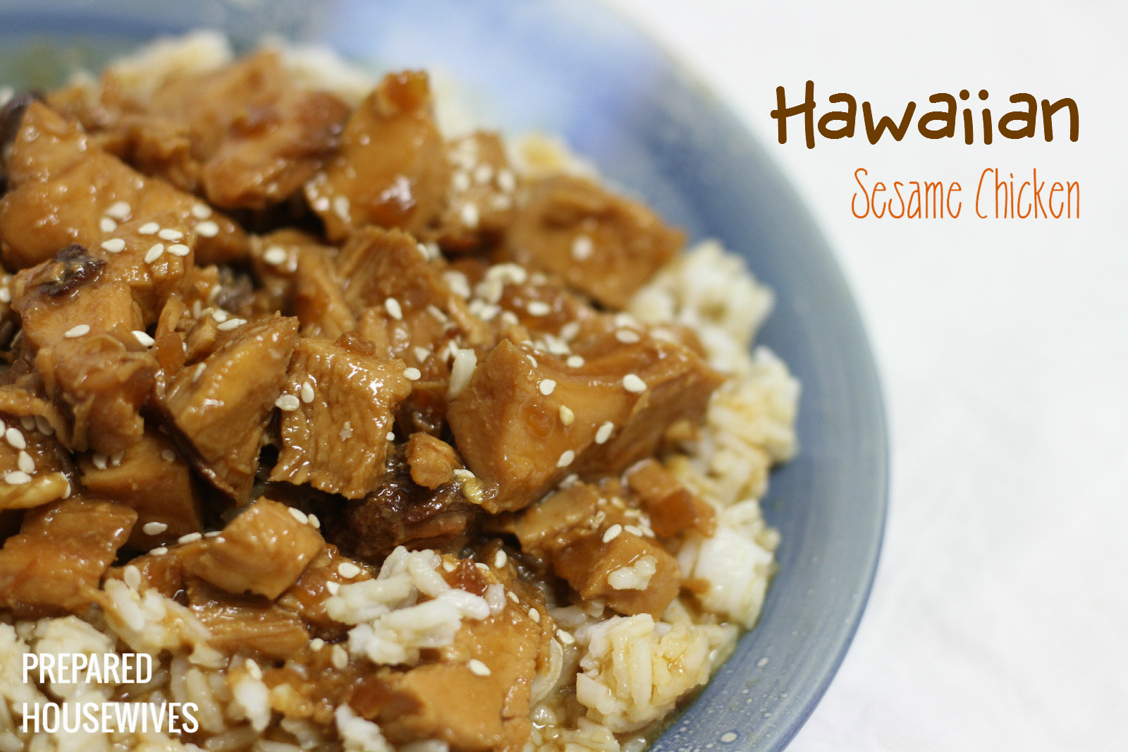Hawaiian Sesame Chicken Food Storage Recipe from: www.Prepared-Housewives.com #food storage #recipe