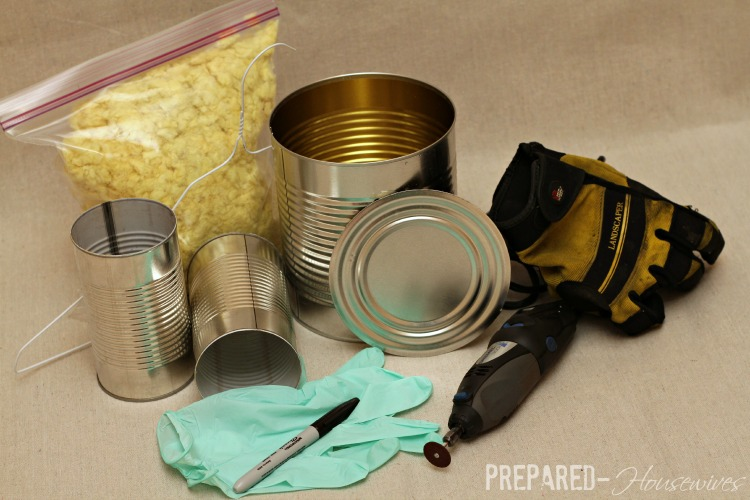 supplies needed to build a rocket stove