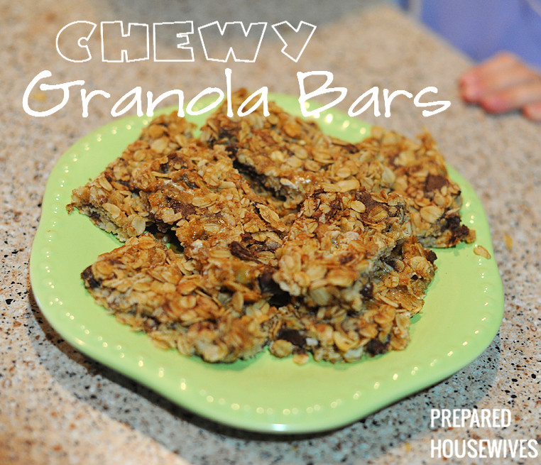 Chewy Homemade Granola Bars - A great reason to store lots of Oats!!!