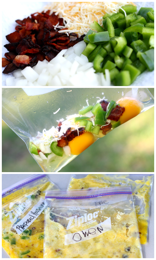 Make an Omelet in a BAG!!! www.Prepared-Housewives.com #camping #omelet #eggs