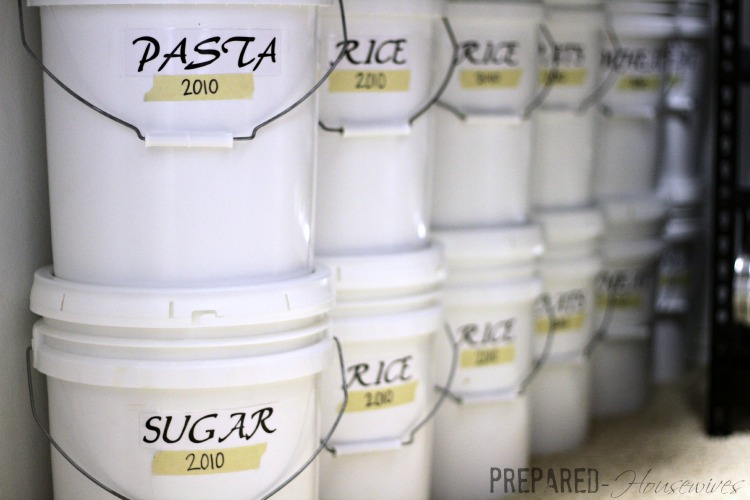 Supersizing Food Storage With Buckets Prepared Housewives
