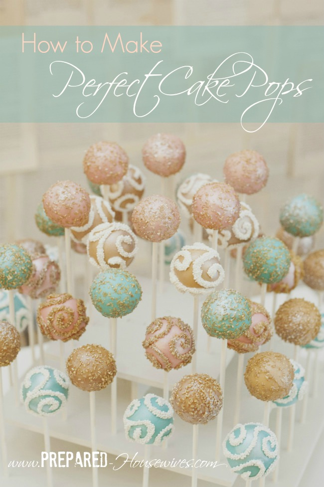 Easy Instructions on How to Make Cake Pops so they turn out Perfect (or at least close to it) - www.Prepared-Housewives.com #cakepops #foodstorage