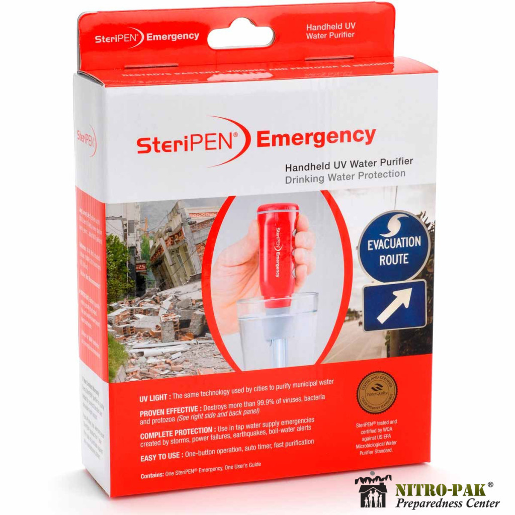Store Water: Steripen Emergency Water Purifier