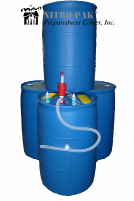 Store Water: Family Water Storage Pack - Four 30 Gallon Barrels