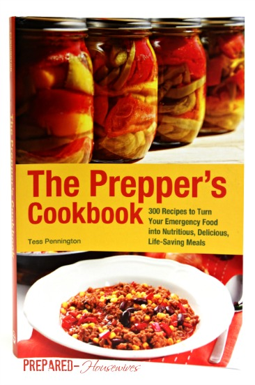 Does your pantry have what it takes to survive? 25 Things you need to have and how to cook over 300 meals with it! It's all The Prepper's Cookbook by Tess Pennington! Review at Prepared-Housewives.com #cookbook #foodstorage #prepping