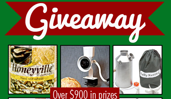 Preparedness Giveaway (over $900 in prizes) – Just in time for Christmas!
