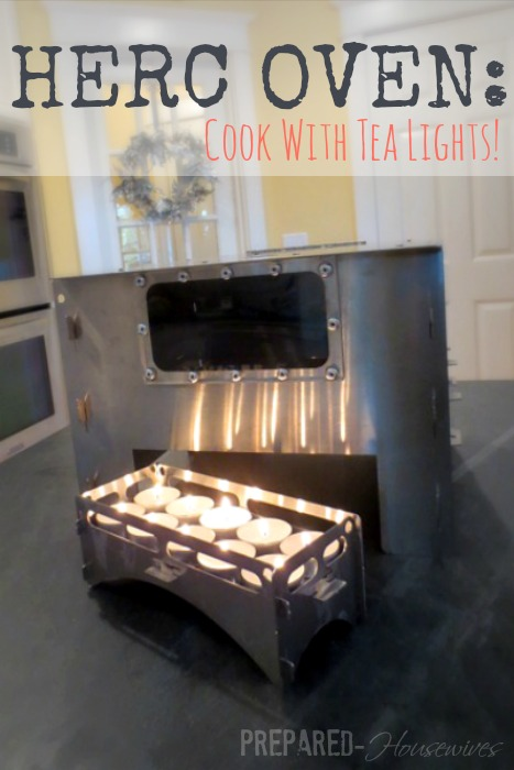 HERC Oven: Needs only tea light candles to cook! An emergency cooking method you need to check-out! Prepared-Housewives.com #alternativecooking #emergencyprep