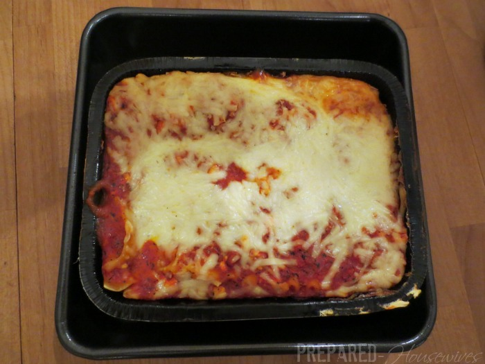 lasagna cooked in herc oven