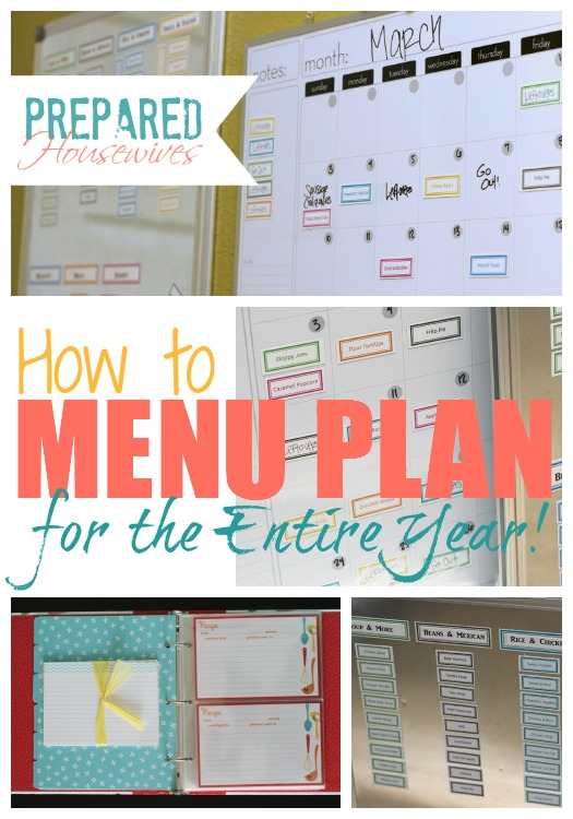 Menu Plan For a Year
