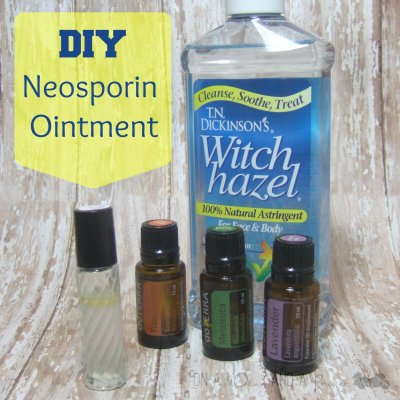 DIY Neosporin Ointment made from essential oils. Learn how to make your own! Prepared-Housewives.com #diy #essentialoils #neosporinointment #preparedbloggers