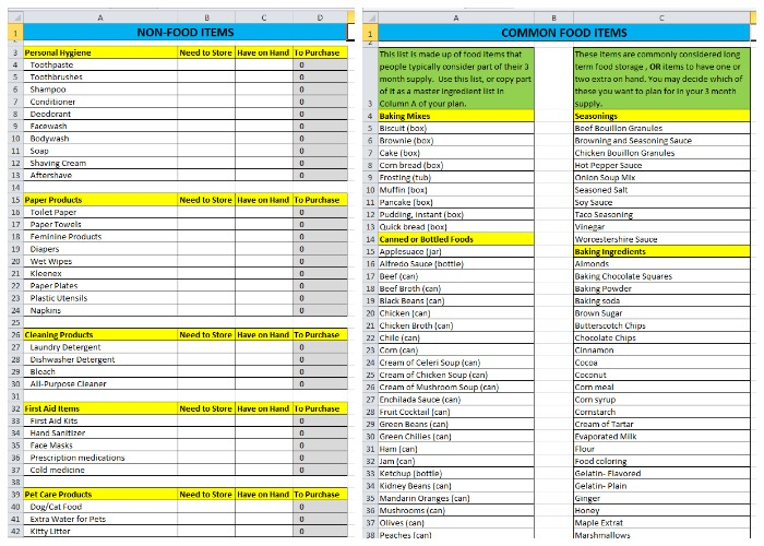 Food Storage Inventory Spreadsheets You Can Download For Free – Skills Inventory Template