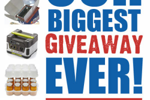 Biggest Preparedness Giveaway EVER – No Joke ;)