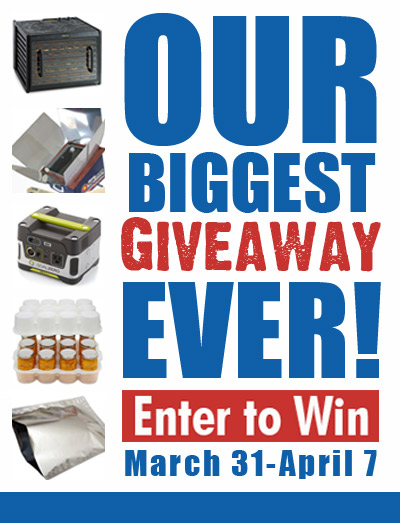 Biggest Preparedness Giveaway EVER! Make sure you enter before it's too late! Prepared-Housewives.com #giveaway #emergencypreparedness
