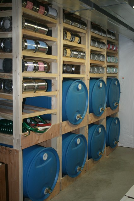 canned food storage shelves