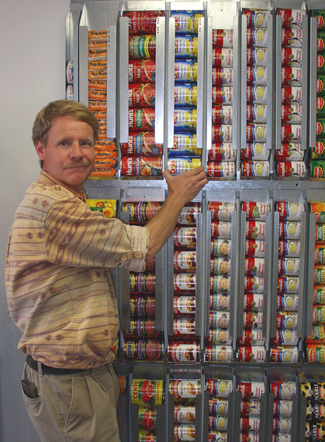 wall system for canned food