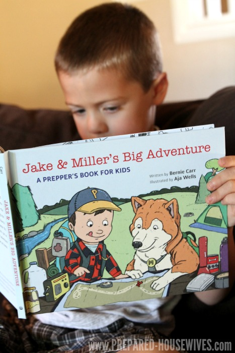 Jake & Miller's Big Adventure is a Prepper's Book for Kids that will help teach kids they shouldn't be scared when they're prepared for a disaster! Prepared-Housewives.com #childrensbooks #review #preppers