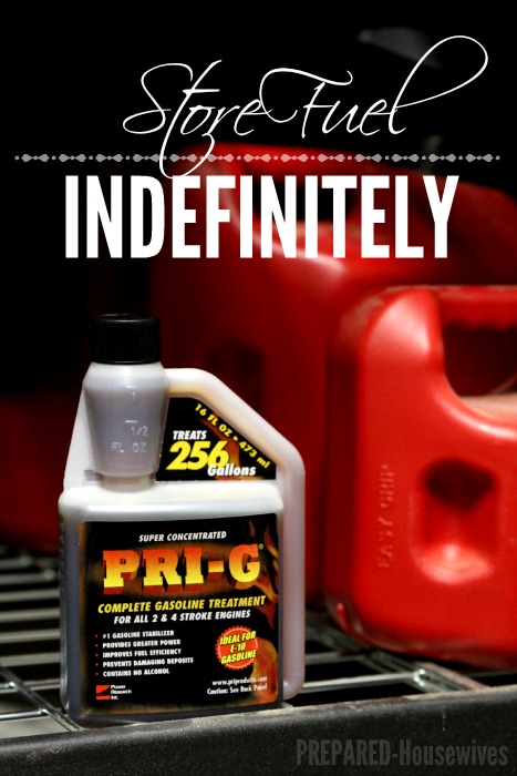 You can now store fuel indefinitely, and have the peace of mind your generator will work when you need it most! Prepared-Housewives.com #fuelstabilizer #emergencyprep