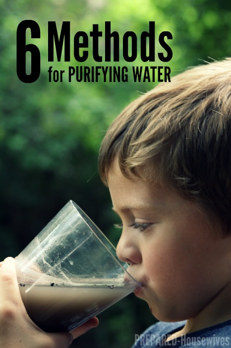 Methods for Purifying Water in Case of a Disaster!
