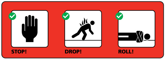 Know how to keep yourself safe when there is fire!