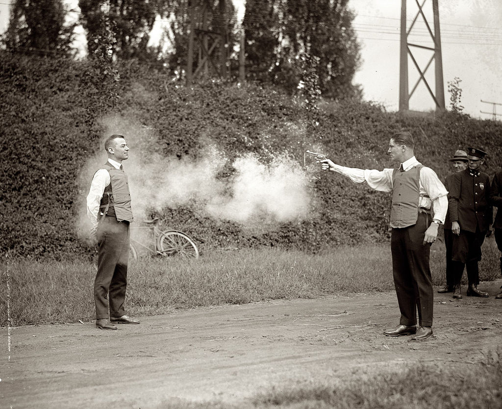 Testing Bullet Proof Vest in 1923