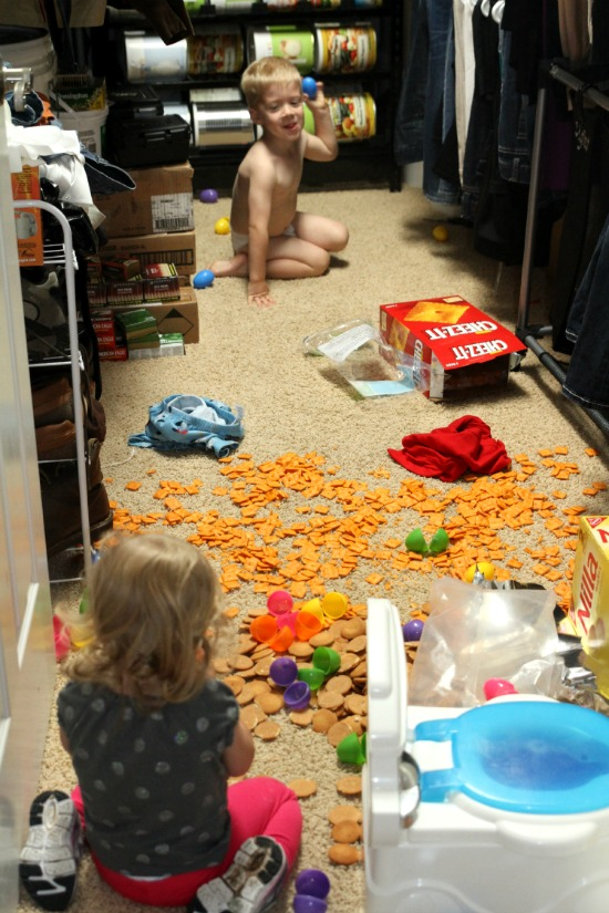Kids Destroying Closet!