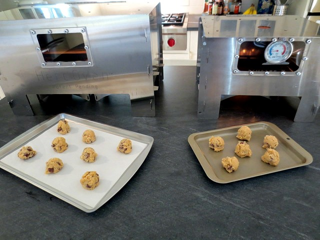 Baking chocolate chip cookies with the HERC Oven