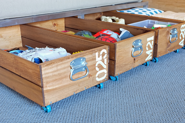 rolling crates for under bed
