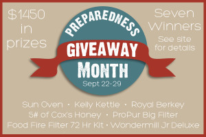 Preparedness Giveaway – $1450 in Prizes & 7 Winners